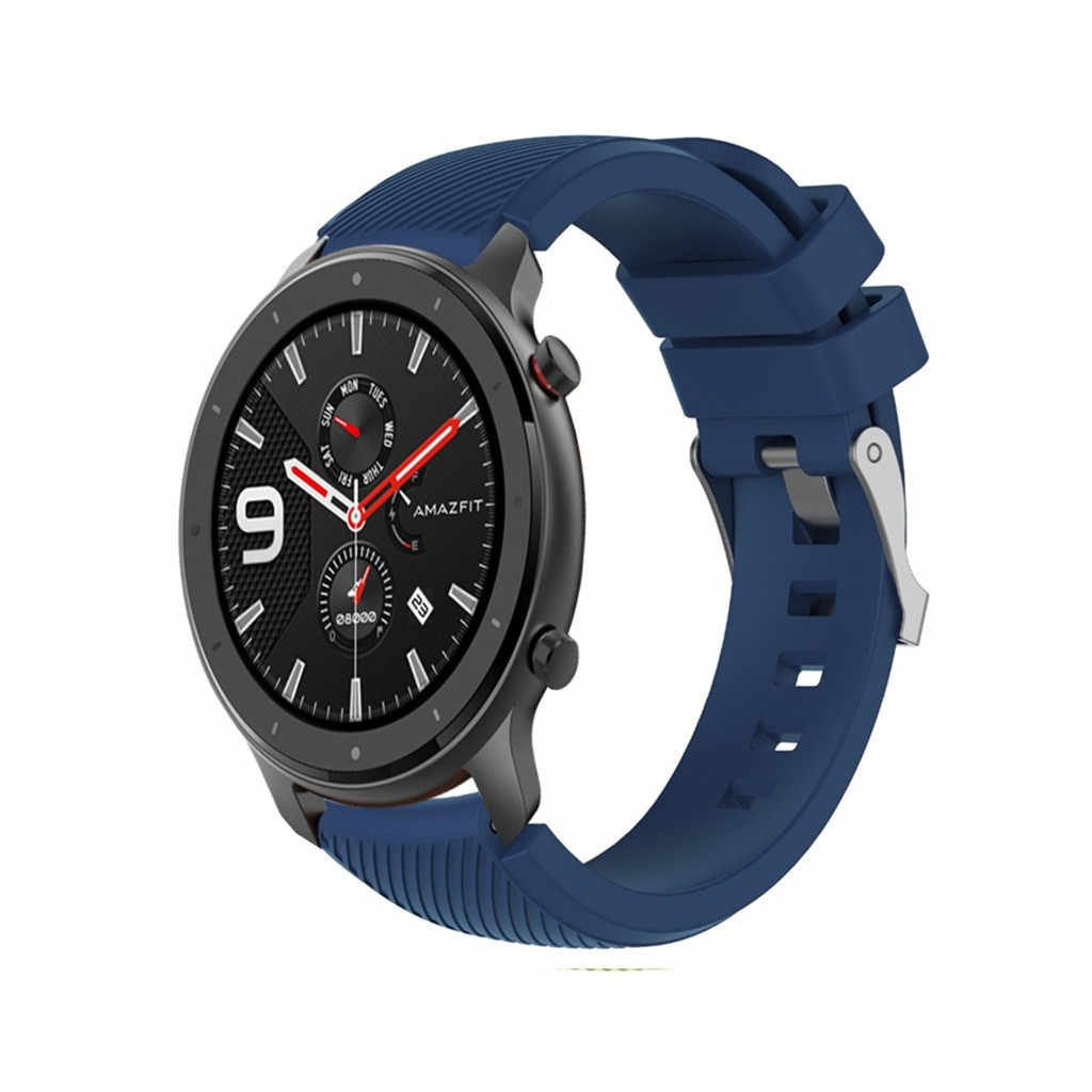 Thể Thao Dây Silicon Dây Đeo Xiaomi Huami AMAZFIT Pace/Stratos 2 2 S/GTR 47 Mm Dây Đồng Hồ dây 22 Mm Cho Galaxy 46 Mm Gear S3