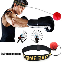 1Pcs Head-Mounted Boxing Reflex Speed Punch Ball To Improve Reaction Force Hand-Eye Training Set Muay Thai Punching