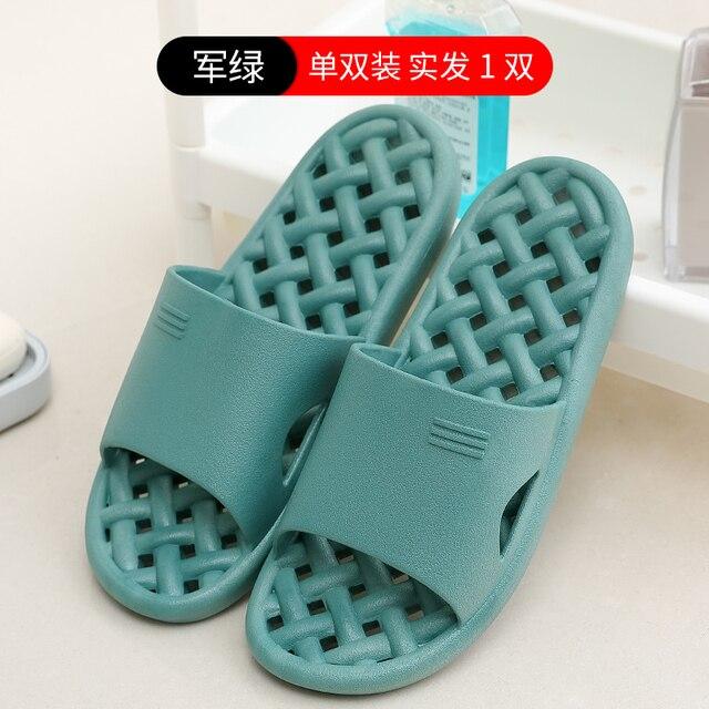 Zapatillas de baño pareja goma eva para interiores casa Hotel sandalias y zapatillas mujer verano antideslizantes baño hombres zapatillas de Hospital