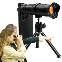 18 30x hd profissional lente do telescópio da câmera do telefone móvel para o iphone xiaomi lente zoom telefoto ajustável smartphone lentes kit