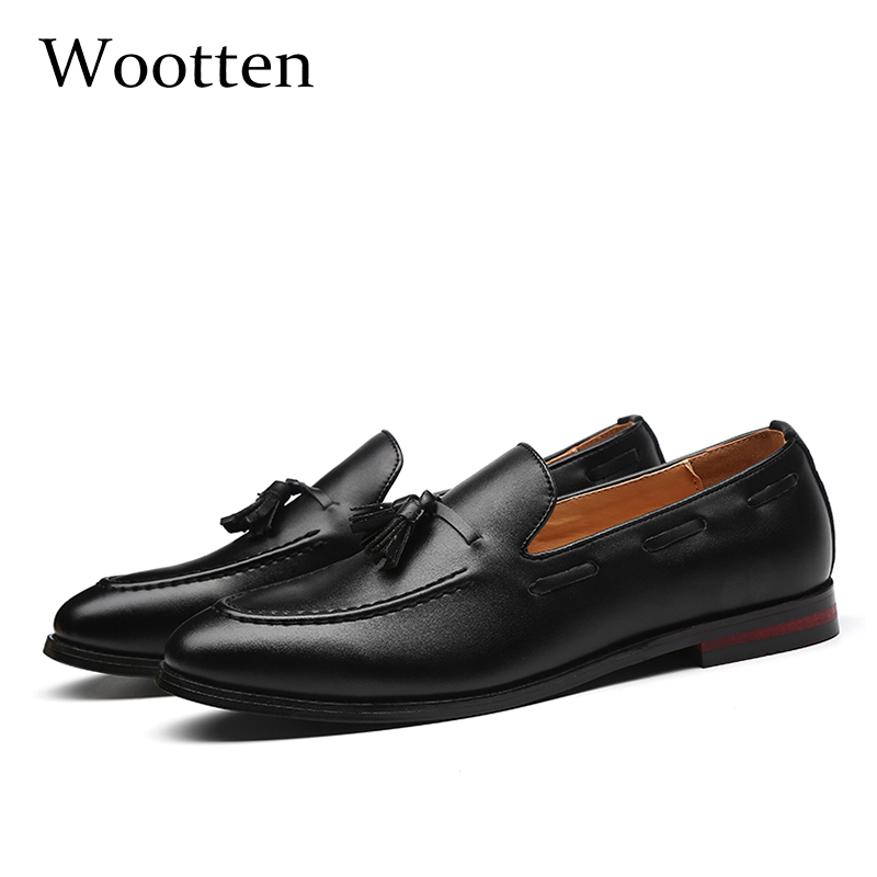 37-48 Men Shoes Casual Moccasins Leather Fashion Elegant Classic Brand Luxury Breathable Comfortable Plus Size Loafers Men #703