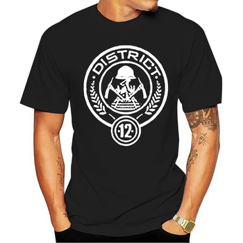 2021 T-shirt 100% cotton Distrito 12 Camiseta Jogos Vorazes Zombando Dos Distritos do Tributo Panem Jay 011211 image