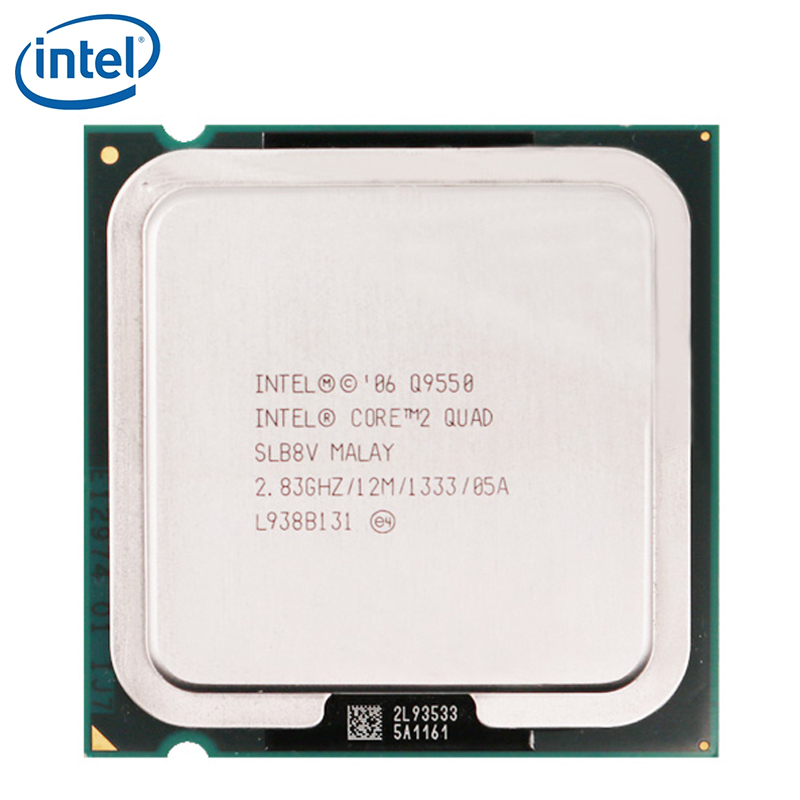 Intel CPU Processor Desktop Lga 775 Quad-Q9550 Cache 1333 2 12MB Tested FSB 100%Working title=