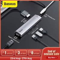 Baseus USB C HUB Typ C zu Multi USB 3,0 HUB B Typ C HUB RJ45 4K HD Karte reader Adapter HUB USB Splitter Computer Zubehör