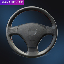 Car Braid On The Steering Wheel Cover for Volkswagen VW Jetta 5 2006 2010 Old Jetta Car styling Auto Leather Wheel Covers