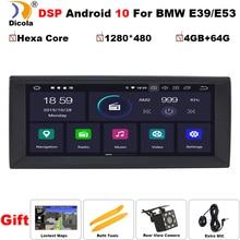 """10.25 """"px6 dsp android 10 4gb ram + 64gb rom carro multimídia jogador de navegação gps para bmw e39 x5 m5 e38 e53 dsp carplay rádio"""