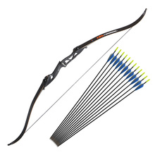 56inch Archery Recurve Bow 30-50lbs Takedown Bow Bag and 12 pcs Fiberglass Arrows for Hunting Shooting Bow Training стоимость