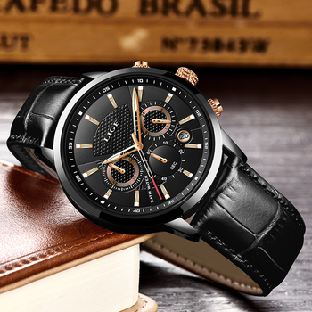 New Relogio Masculino LIGE Brand Luxury Men Watch Fashion Leather Analog Quartz Clock Mens Waterproof Sports Watches Chronograph lige new luxury brand men analog leather sports watches men s army military waterproof watch male date quartz clock reloj hombre