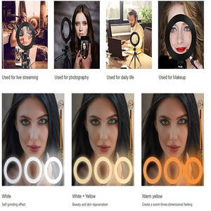 Image 5 - 26cm Selfie טבעת אור Dimmable 130cm חצובה Stand טלפון סלולרי מחזיק Led המצלמה Ringlight עבור איפור YouTube וידאו צילום