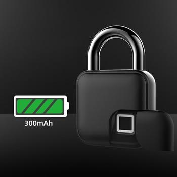 Smart Lock Keyless Fingerprint Lock IP65 Waterproof Anti-Theft Security Padlock Door Luggage Case Lock fingerprint lock smart keyless lock ip65 waterproof anti theft security padlock door luggage case padlocks