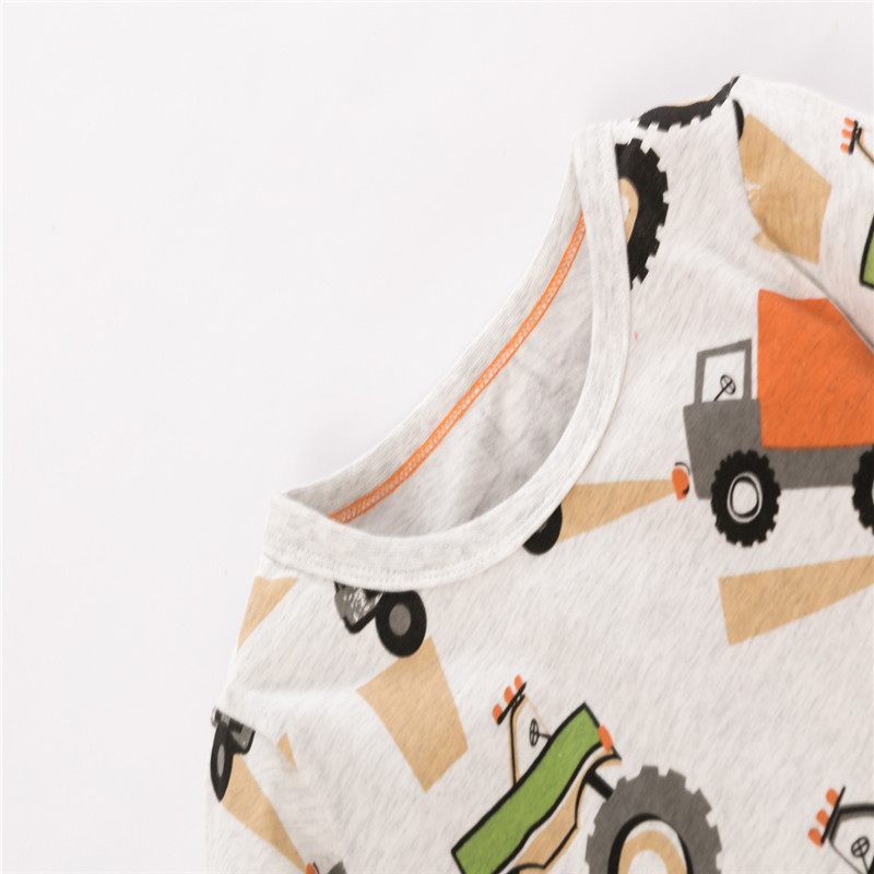 H7b80ccbf12a94bc2a61da1ee79bf19628 Jumping meters Baby Dinosaurs T shirts Cotton Girls Animals Clothing for Autumn Spring Children's Tees s