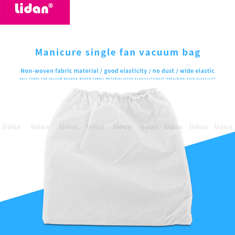 Nail Art Tool Storage White Elasticity Collector Bag Vacuum Cleaner Dust Suction Collection Non-Woven Replaceable Washable Bags