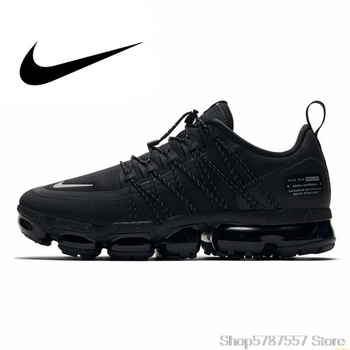 Nike Air Vapormax Run Utility Official Men Running Shoes Shock Absorption Comfortable Breathable Sneakers New Arrival AQ8810-003 nike vapormax men running shoes new arrival full palm air cushion comfortable ventilation bradyseism sneakers aq8810 001