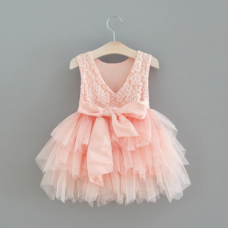 119-2-Lace Tulle Girls Dress