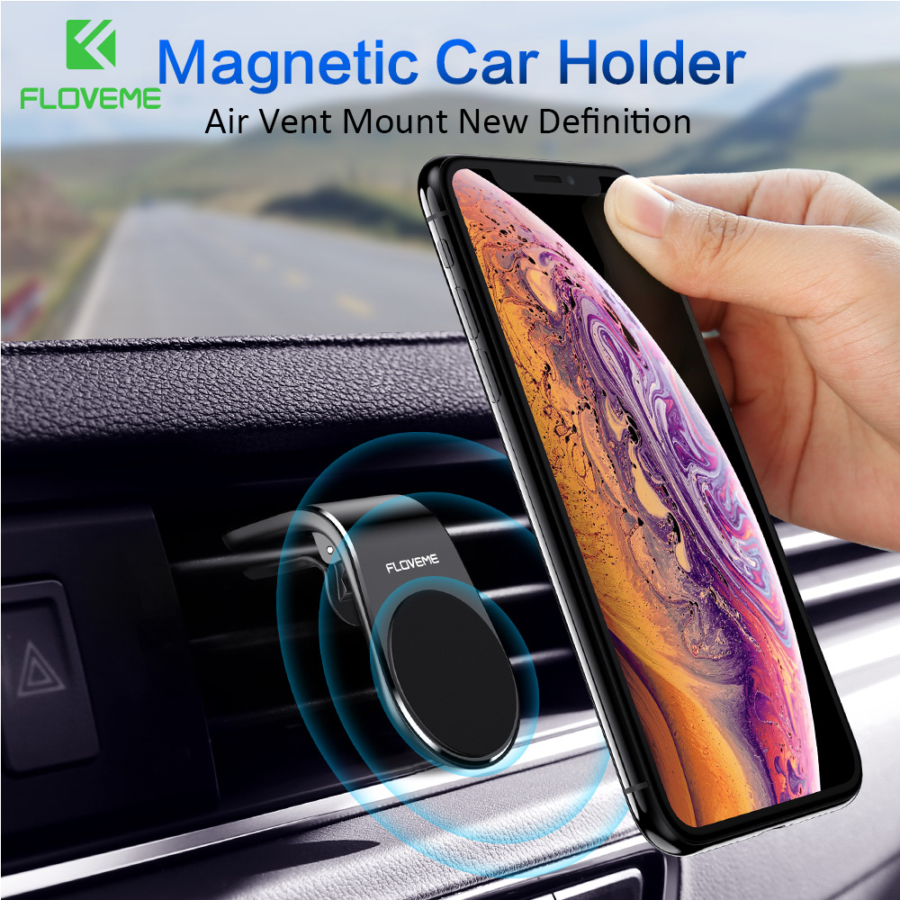 FLOVEME Magnetic Car Phone Holder Cellphone Car Holder Air Vent Mount Phone Stand Potable Phone Car Magnet For IPhone X Max XR