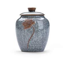 Мемориальная урна кремация урны керамические Celadon Герметичные банки для хранения резервуары для хранения чайные горшки чайные банки