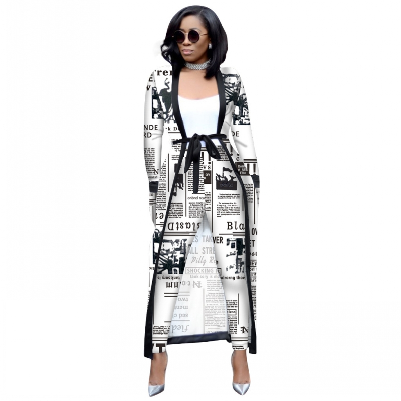 2 Pieces Set Sexy Spring Autumn Fashion Women Set Female Tops Floral Print Long Sleeve Cardigan Bodycon Stripe Pants