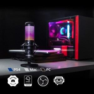 Image 2 - קינגסטון HyperX QuadCast S Professionnel RGB USB הקבל מיקרופון עבור מחשב PS4 Mac ו מחלוקת TeamSpeak YouTube XSplit OBS