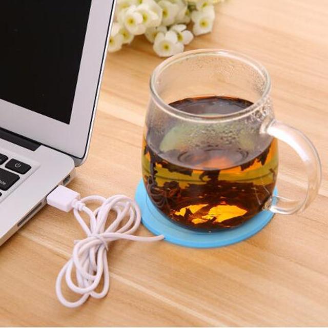 USB Warmer Gadget Cartoon Silicone thin Cup-Pad Coffee Tea Drink usb Heater Tray Mug Pad nice Gift 2