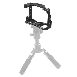 Image 5 - Aluminum QR  Handheld Camera Cage For Sony A7RIII/A7III/A7MIII SLR DSLR Mount Tripod Bracket Photography Extension Kit