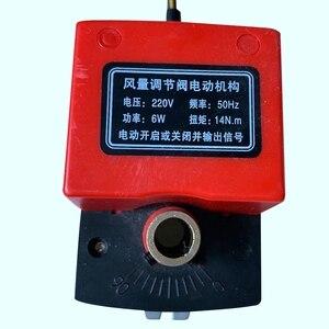 Image 2 - Soupape damortissement dair Ac220V actionneur damortisseur électrique de conduit électrique pour vannes de Ventilation avec rétroaction de Signal