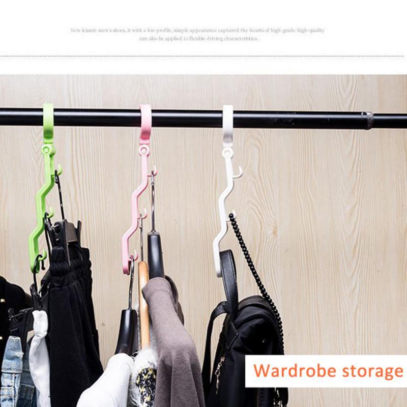 2 Packs Multifunctional Clothes Hangers Hook Baby Clothes Drying Racks Storage Rack Hangers Saving Space Home Wardrobe Organizer
