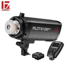 JINBEI Pilot III Pro 1200W Powerful Studio Flash Head GN108 for Commercial Photography with TR-Q7 Trigger Kit
