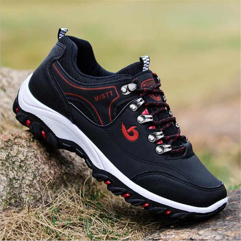 DM24 çelik burun Anti-smash Anti-piercing güvenlik iş ayakkabısı yüksek kaliteli su geçirmez deri sneakers açık erkek yürüyüş botları