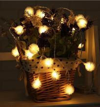 Hairy Ball LED Light Decoration 20 Christmas Day String Lights Halloween Wedding Outdoor