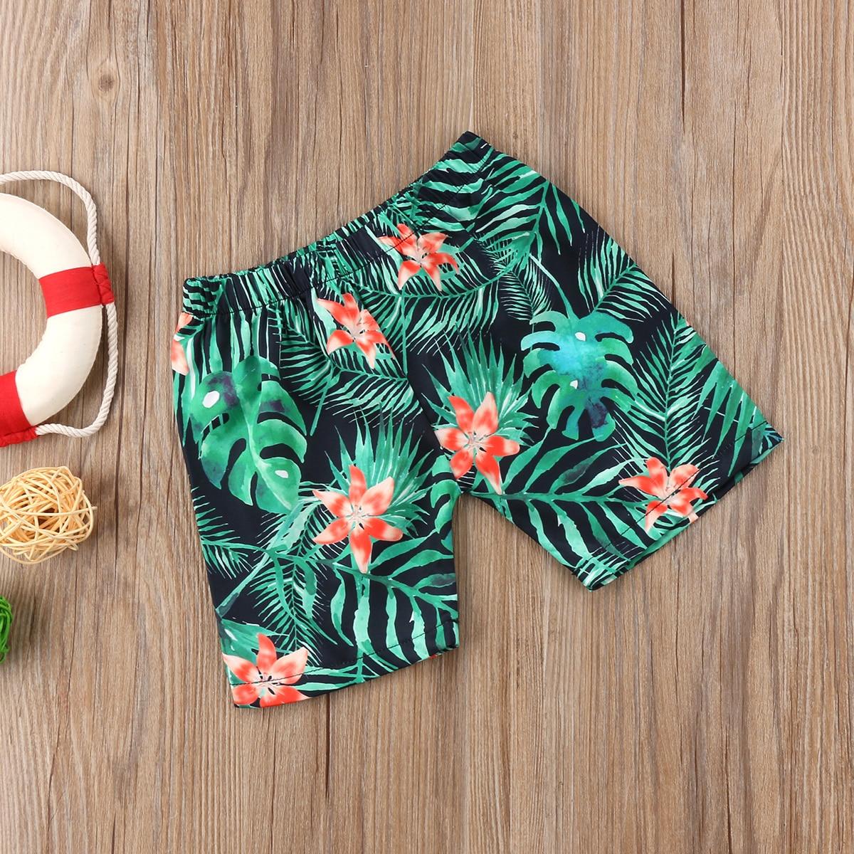 Kids Boy Swimming Trunks Board Shorts Boarder Baby Swim Hawaiian Beach Shortpants Trunks Boys Summer