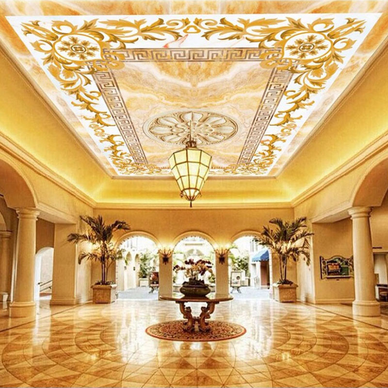 Custom Photo Wallpaper 3D Stereo Jade Pattern Ceiling Murals Living Room Bedroom Hotel Luxury Wall Papers Papel De Parede 3 D