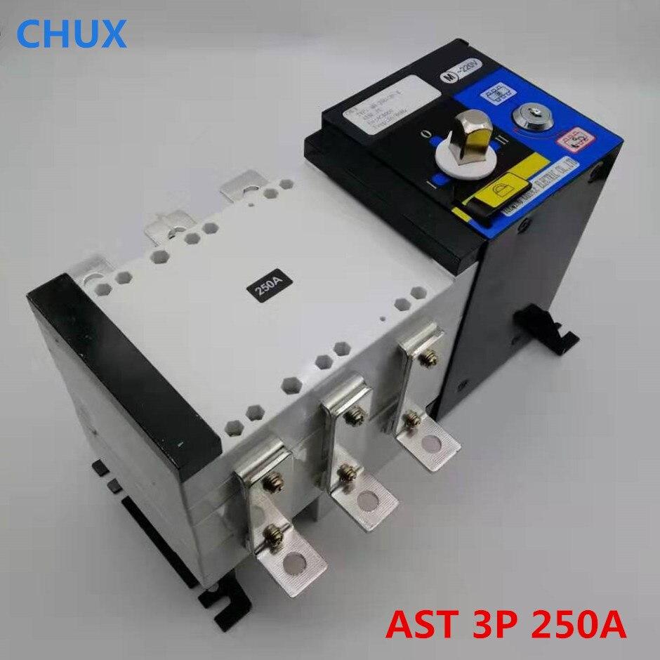 ATS 3P 250A Dual power automatic switch PC grade 220V/ 230V/380V/440V 3 pole automatic transfer switch ats