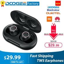 Doogee Dopods TWS empreinte digitale tactile Bluetooth 5.0 sans fil Bluetooth écouteur avec boîte de charge casque numérique Intelligent