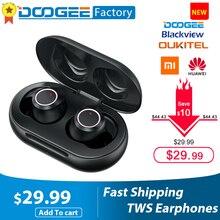 Doogee dopods充電tws指紋タッチのbluetooth 5.0 ワイヤレスbluetoothイヤホンボックスインテリジェントデジタルヘッドセット