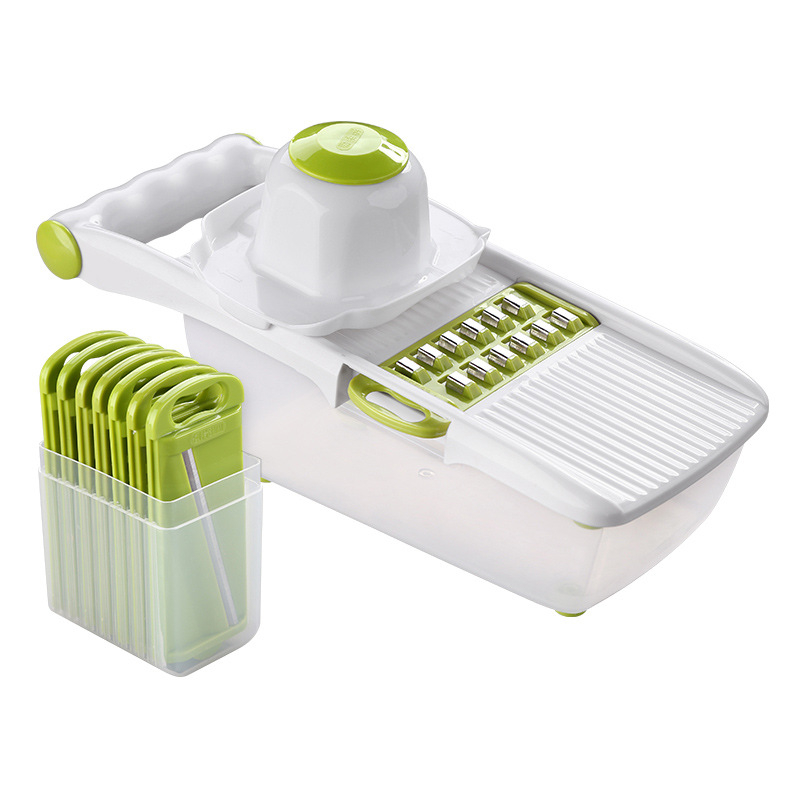 Mandoline Slicer and Vegetable Cutter With 8 Pieces Stainless Steel Blade Used as Kitchen Tool