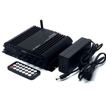 Lepy 168Plus Portable Mini Stereo Amplifier Bluetooth Amplifier Wireless HIFI 2.1CH Bass Audio Speaker Digital Compact EU Plug