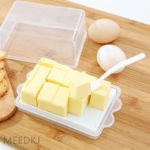 Пластиковая крышка с ложкой коробка для масла прямоугольная