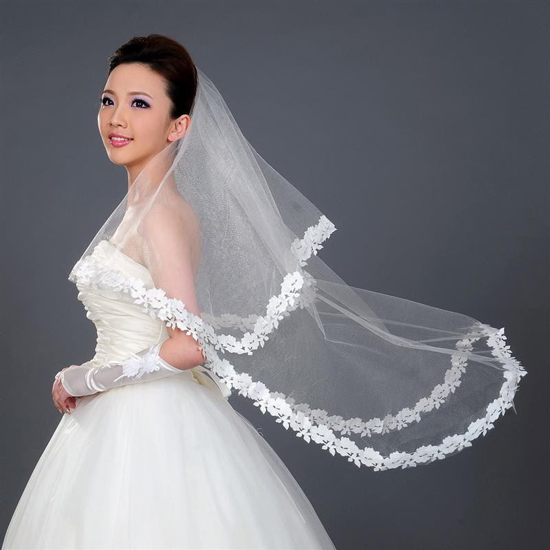 1.5M Long Wedding Bridal Veil Transparent Mesh Bride Veil Head Veil For Bride Marriage Wedding Accessories