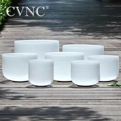 CVNC 6 -12 Note CDEFGAB ensemble de 7 pièces Chakra givré Quartz cristal chantant bol