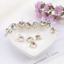 new design fashion jewelry heart-shaped geometric earrings stars clover stud earrings for women girls diy jewelry accessories недорого