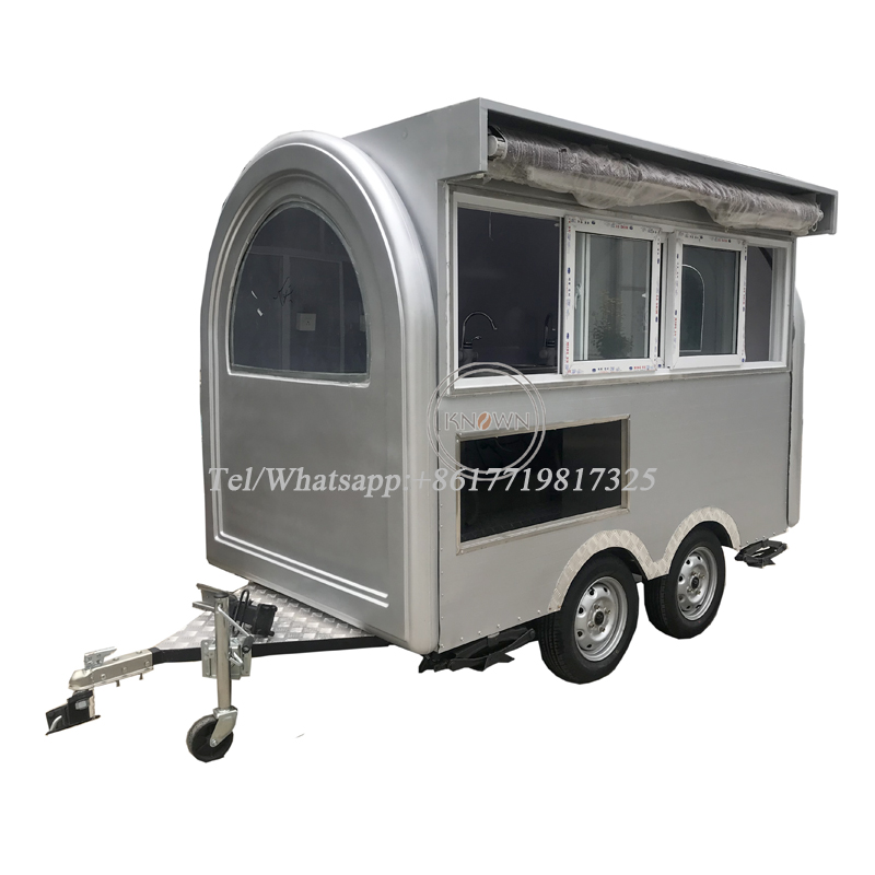 New Style Good Quality Mini Size Food Cart, Food Trailer With Free Shipping By Sea