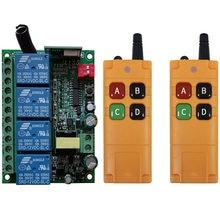 2000m AC110V 220V 230V 4CH Wireless Remote Control LED Light Switch Relay Output Radio RF Transmitter And 433 MHz Receiver