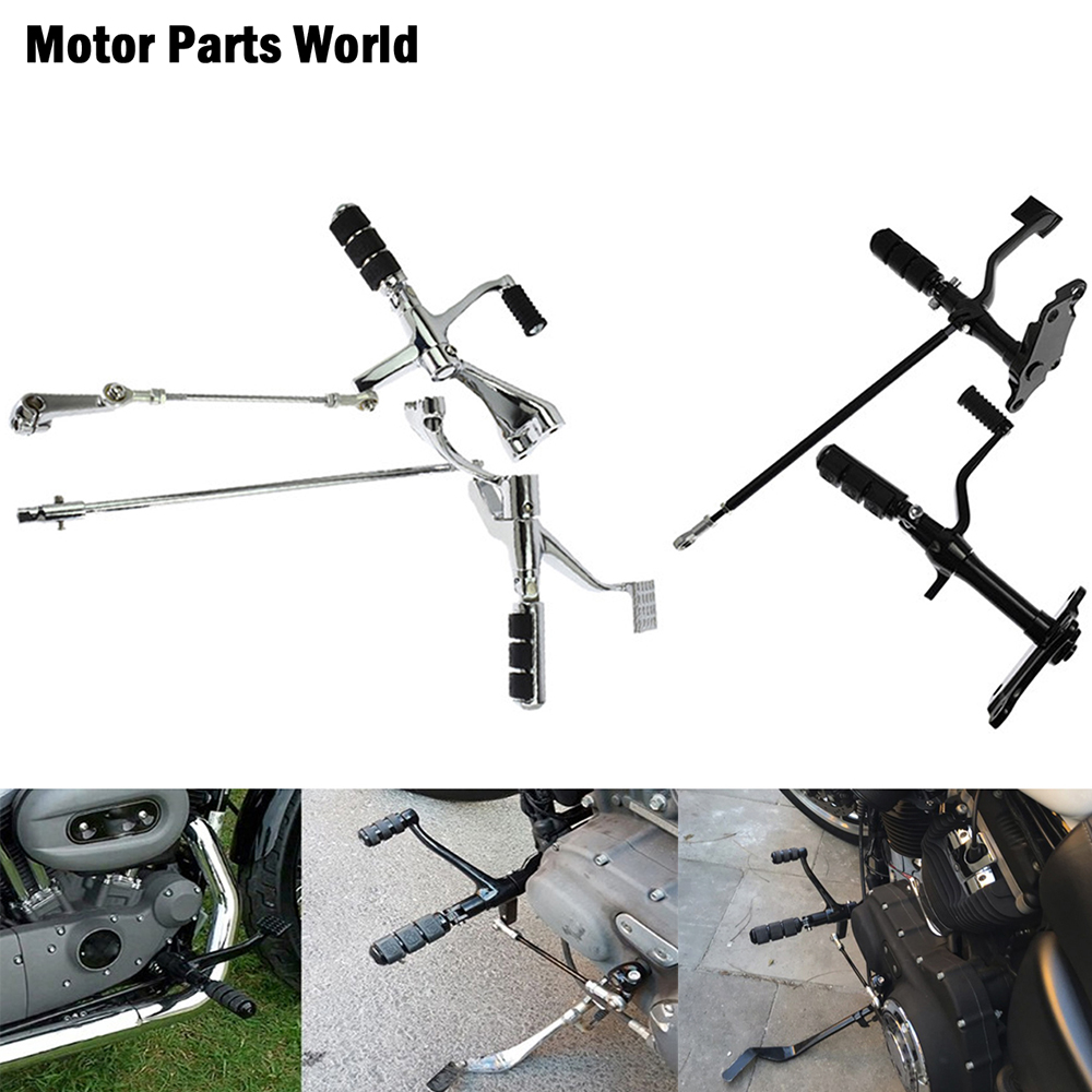 Motorcycle Forward Controls Complete Kit Pegs Levers Linkages For Harley Sportster 883 1200 XL 1991-2003 2004-2013 2014-2020
