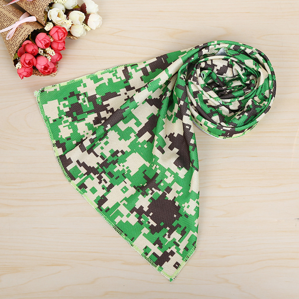 Cooling Summer Portable Washable Lightweight Breathable Sweat Absorb Printing Camo Outdoor Activities Sport Towels