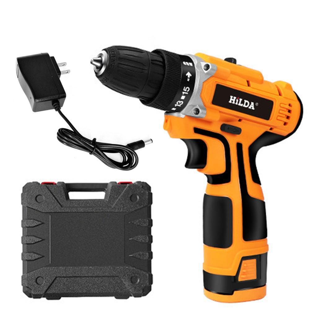 16.8V 340W Cordless Electric Screwdriver Mini Hand Power Drill W/Light Waterproof Hand Drill Charging Mode With Charger EU US