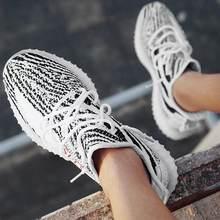 Novo tênis de corrida estático reflexivo preto nuvem branca zebra azul matiz zapatos de mujer cinza núcleo tamanho grande 4-13