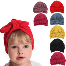 Indian hat Children Baby Girls baby hats Boho Hat Beanie Scarf Turban Head Wrap Cap newborn photography props knit cap beard(China)