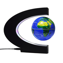 Magnetic Levitation Earth C-Type Led Floating Light Anti-Gravity Creative Plasma Ball Blue + Black Box Us Plug