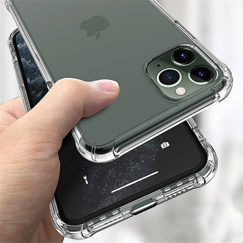Transparent Shockproof Soft Silicone Case for iPhone 12 11 Pro Max X XR XS 8 7 6 6S Plus SE 2020 Case 360 Silicone Protect Cover image