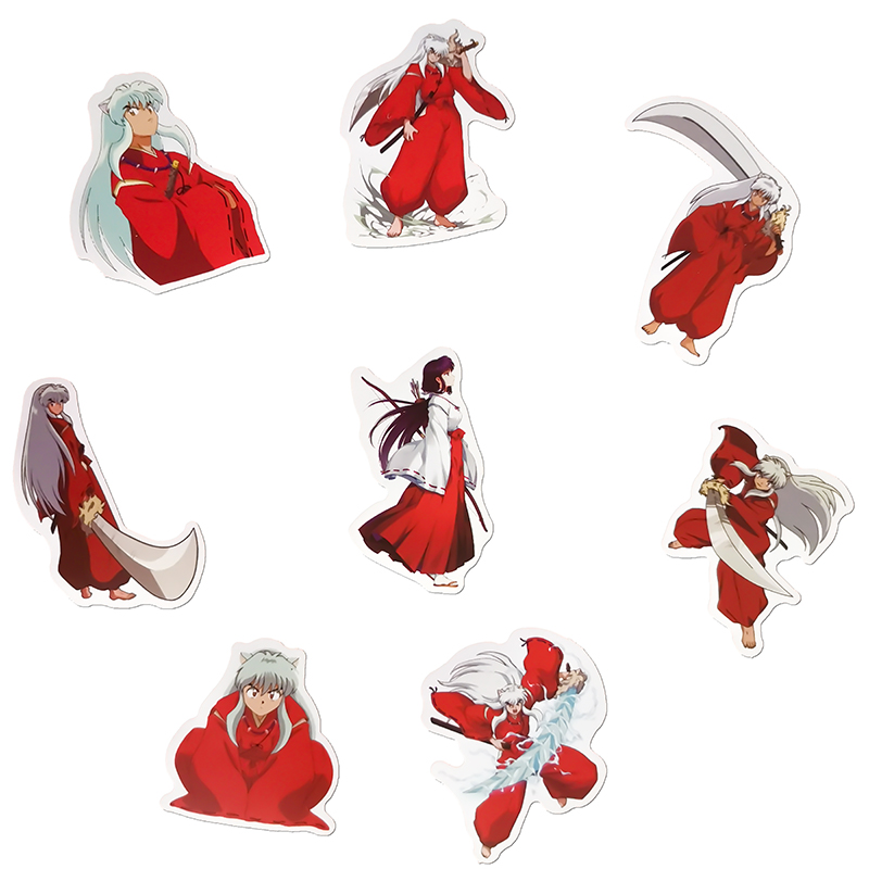 50PCS Cartoon Inuyasha Stickers Crafts And Scrapbooking stickers kids toys book Decorative sticker DIY Stationery